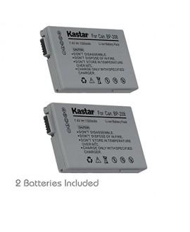 Kastar BP-208 Battery (2-Pack) for Canon DC10 DC19 DC20 DC21 DC22 DC40 DC50 DC51 DC95 DC100 DC200/201/210/211 DC220/230 Elura 100 FVM300 IXY DVS1 MVX1Si/430/450/460 Optura S1 VIXIA HR10
