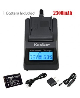 Kastar Ultra Fast Charger(3X faster) Kit and Battery (1-Pack) for Fujifilm NP-120, FNP120 work with Fujifilm FinePix 603, FinePix F10, FinePix F10 Zoom, FinePix F11, FinePix F11 Zoom, FinePix M603, FinePix M603 Zoom, KYOCERA Contax Tvs Digital, RICOH Capl