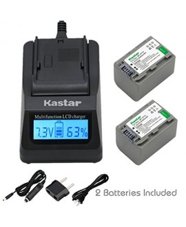 Kastar Ultra Fast Charger(3X faster) Kit and Battery (2-Pack) for Sony NP-FP70 and Sony DCR-30, DVD92, DVD103, DVD105, DVD202, DVD203, DVD205, DVD304, DVD305, DVD403, DVD404, DVD405, DVD505, DVD602, DVD605, DVD653, DVD703, DVD705, DVD755, DVD803, DVD805,
