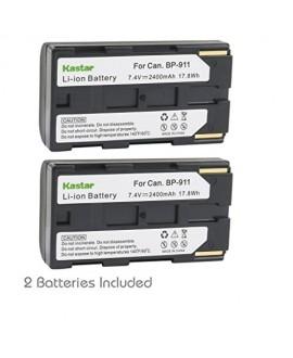 Kastar BP911 Battery (2-Pack) for Canon BP-911, BP-911K, BP-914, BP-915 and Canon ES6500V, ES7000es, ES7000V, ES8000V, ES8100V, ES8200V, ES8400V, ES8600 Camera