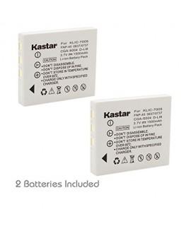 Kastar Battery (2-Pack) for Fujifilm NP-40 NP-40N Panasonic CGA-S004 CGA-S004A CGA-S004E DMW-BCB7 Kodak KLIC-7005 Samsung SLB-0737 SLB-0837 Sanyo NP-40 Pentax D-Li8 Benq Dli-102 Konica Minolta NP-1
