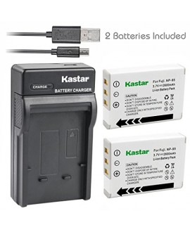Kastar Battery (X2) & Slim USB Charger for Fujifilm FNP95, NP95, NP-95 and Finepix F30, F31FD, Real 3D W1, X30, X100, X100T, X100LE, X100S, X-S1 and Ricoh DB-90, GXR, GXR Mount A12, GXR P10
