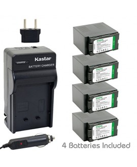 Kastar Battery (4-Pack) and Charger Kit for Panasonic CGR-D54S, CGA-D54, VSK0581 work with Panasonic AG-3DA1, AG-AC90, AG-DVC30, AG-DVC32, AG-DVC33, AG-DVC60, AG-DVC62, AG-DVC63, AG-DVC80, AG-DVC180, AG-DVX100, AG-DVX102, AG-HPX170, AG-HPX250, AG-HPX255,