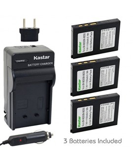 Kastar Battery (3-Pack) and Charger Kit for BN-VM200 BN-VM200U work with JVC GZ-MC100 GZ-MC200 GZ-MC500 GZ-MC100EK GZ-MC200E GZ-MC500EK GZ-MC100EX GZ-MC200EX GZ-MC500EX GZ-MC100US GZ-MC200US GZ-MC500US Cameras
