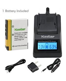 Kastar Fast Charger + KLIC-7002 Battery (1-Pack) for Kodak EasyShare V530, EasyShare V530 Zoom, EasyShare V603, EasyShare V603 Zoom Cameras