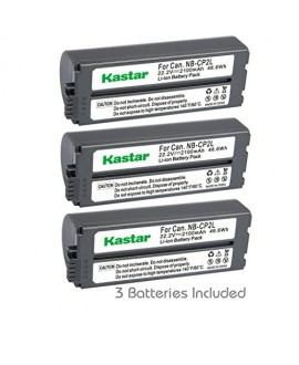 Kastar Battery NB-CP2L (3-PACK) for Canon NB-CP1L NB-CP2L and Canon Compact Photo Printers SELPHY CP100 CP200 CP220 CP300 CP330 CP400 CP510 CP600 CP710 CP730 CP770 CP780 CP790 CP800 CP900 CP910