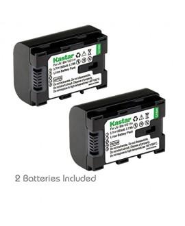 [Fully Decoded] Kastar BN-VG114 Battery (2-Pack) Replacement for JVC BN-VG107 BN-VG107U BN-VG107US BN-VG114 BN-VG114U BN-VG114US BN-VG121 BN-VG121U BN-VG121US Battery and JVC Everio Cameras