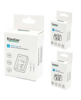 Kastar Battery (X2) & LCD Slim USB Charger for Nikon EN-EL23, ENEL23 MH-67 and Nikon Coolpix P600, P610 S810c, P900 Digital Cameras