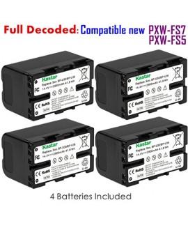 Kastar BP-U30 Battery (4-PACK) for Sony BP-U90 BP-U60 BP-U30 and Sony PXW-FS7/FS5/X180 PMW-100/150/150P/160 PMW-200/300 PMW-EX1/EX1R PMW-EX3/EX3R PMW-EX160 PMW-EX260 PMW-EX280 PMW-F3 PMW-F3K PMW-F3L
