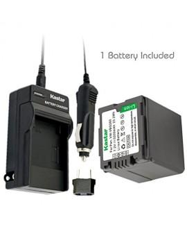 Kastar Battery (1-Pack) and Charger Kit for Panasonic VW-VBG260 work with Panasonic AG-AC7, AG-AF100, AG-HMC40, AG-HMC80, AG-HMC150, HDC-HS250, HDC-HS300, HDC-HS700, HDC-SD600, HDC-SD700, HDC-SDT750, HDC-TM300, HDC-TM700, SDR-H80 Cameras