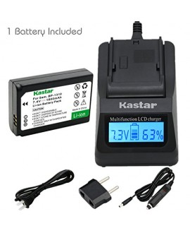 Kastar Ultra Fast Charger(3X faster) Kit and Battery (1-Pack) for Samsung BP1310, ED-BP1310 work for Samsung NX5, NX10, NX11, NX20, NX100 Cameras [Over 3x faster than a normal charger with portable USB charge function]