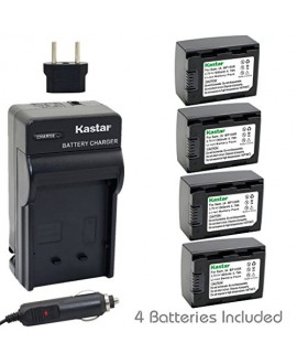 Kastar Battery (4-Pack) and Charger Kit for IA-BP105R and Samsung HMX-F80 HMX-F90 HMX-F800 HMX-F900 SMX-F50 SMX-F53 SMX-F54 SMX-F500 SMX-F501 SMX-F530 SMX-F70 SMX-F700 HMX-H300 H303 H304 H305 HMX-H320