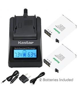 Kastar Fast Charger + 2X Battery for Nikon EN-EL12 MH-65 & Coolpix AW100, AW100s, AW110, AW110s, S9900, S9700, S9500, S9300, S9200, S9100, S6300, S8100, P330, P310, P300, S1200pj, S1000pj, S620, S31