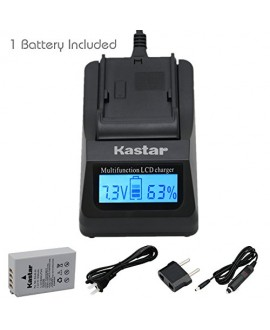 [Fully Decoded] Kastar Ultra Fast Charger(3X faster) Kit and EN-EL24 Battery (1-Pack) for Nikon EN-EL24 ENEL24 Rechargeable Li-ion Battery work with Nikon 1 J5 Camera