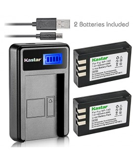 Kastar Battery (X2) & LCD USB Charger for Fujifilm NP-140 Fuji NP-140 NP140 FNP140 and Fujifilm FinePix S100FS, Fujifilm FinePix S200EXR, Fujifilm FinePix S205XR Cameras