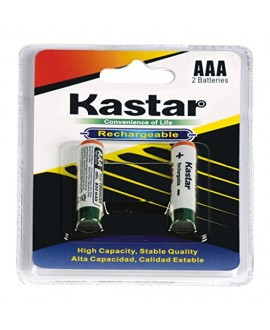 Kastar AAA 1000mAh 2PCS(1-PACK) Rechargeable Ni-MH Batteries