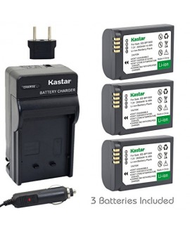 Kastar Battery (3-Pack) and Charger Kit for Samsung ED-BP1900, BP1900 Battery and Samsung NX1 Smart Wi-Fi 4K Digital Camera