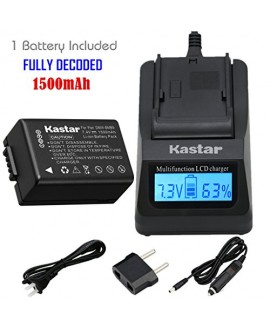 Kastar Fast Charger Kit and DMW-BMB9 Battery (1-Pack) for Panasonic DMW-BMB9E DMW-BMB9PP DE-A83 and Lumix DMC-FZ40 DMC-FZ45 DMC-FZ47 DMC-FZ48 DMC-FZ60 DMC-FZ62 DMC-FZ70 DMC-FZ72 DMC-FZ100 DMC-FZ150