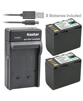 Kastar Battery (X2) & Slim USB Charger for JVC BN-VF823 BNVF823 and Everio GS-TD1 GY-HM70U HM100U HM150U HMZ1U MG230 MG360 MG365 MG430 MG435 MG465 MG555 MG730 MS120 MS130 HD3 HM1 HM200 HM400 X900r