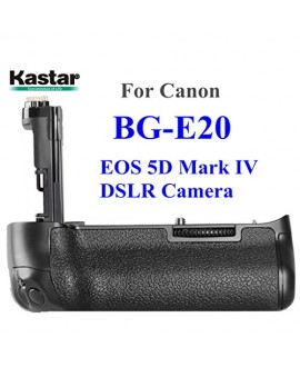Kastar Professional Multi-Power Vertical Battery Grip (Replacement for BG-E20) for Canon EOS 5D Mark IV, 5D Mark 4 Digital SLR Camera, Compatible with 2 Batteries of LP-E6/LP-E6N