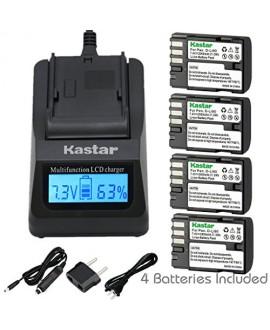 Kastar Ultra Fast Charger(3X faster) Kit and D-Li90 Battery (4-Pack) work with Pentax K-01 K-3 K-5 K-5II K-5IIs K-7 645D 645Z Cameras