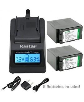 Kastar Fast Charger + Battery 1-Pack for Panasonic CGR-D54S CGA-D54S VSK0581 & AG-3DA1 AG-AC90 AJ-PX270PJ HDC-Z10000 NV-DS29 NV-DS30 NV-DS50 NV-GX7 NV-MX5 NV-MX350 NV-MX500 NV-MX5000 AG-HRX200