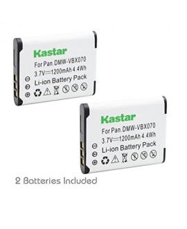 Kastar VW-VBX070 Battery 2 Pack for Pentax D-Li88 Panasonic VW-VBX070 Sanyo DB-L80 DB-L80AU & Pentax Optio H90 P70 P80 W90 WS80 Panasonic HX-DC1 DC2 DC10 DC15 WA10 HM-TA2 TA20 Camera