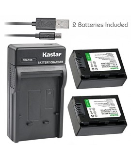 Kastar Battery (X2) & Slim USB Charger for Samsung IA-BP210R IA-BP210E IA-BP420E and SMX-F44 F50 F53 F54 F500 F501 F530 HMX-F80 F90 H200 H300 H304 S10 S15 S16 Camera