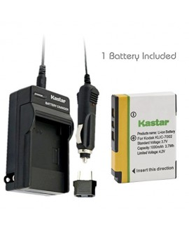 Kastar KLIC-7002 Battery (1-Pack) + Charger for Kodak EasyShare V530, EasyShare V530 Zoom, EasyShare V603, EasyShare V603 Zoom Cameras