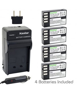 Kastar D-Li109 Battery (4-Pack) and Charger Kit for Pentax D-Li109, DLI109 work with Pentax K-R, K-30, K-50, K-500, KR, K30, K50, K500 Cameras