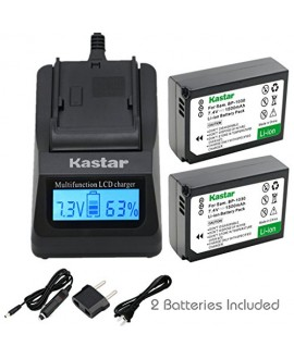 Kastar Ultra Fast Charger(3X faster) Kit and Battery (2-Pack) for Samsung BP1030, BP1030B, BP1130, ED-BP1030 work for Samsung NX200, NX210, NX300, NX300M, NX1000, NX1100, NX2000 Cameras [Over 3x faster than a normal charger with portable USB charge functi