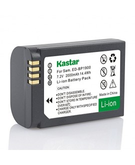 Kastar Battery (1-Pack) for Samsung ED-BP1900, BP1900 Battery and Samsung NX1 Smart Wi-Fi 4K Digital Camera