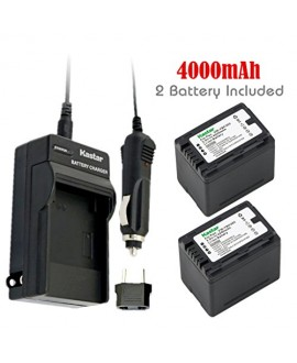 Kastar Battery (2-Pack) and Charger Kit for Panasonic VW-VBK360 work with Panasonic HC-V10, HC-V100, HC-V100M, HC-V500, HC-V500M, HC-V700, HC-V700M, HDC-HS60, HDC-HS80, HDC-SD40, HDC-SD60, HDC-SD80, HDC-SD90, HDC-SDX1H, HDC-TM40, HDC-TM41, HDC-TM55, HDC-T