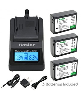 Kastar Ultra Fast Charger(3X faster) Kit and Battery (3-Pack) for Samsung BP1030, BP1030B, BP1130, ED-BP1030 work for Samsung NX200, NX210, NX300, NX300M, NX1000, NX1100, NX2000 Cameras [Over 3x faster than a normal charger with portable USB charge functi