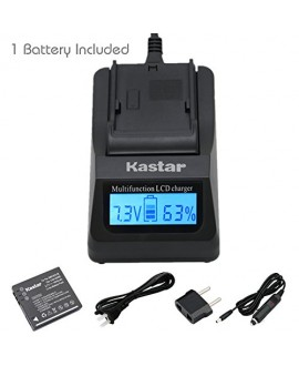 Kastar Ultra Fast Charger(3X faster faster than the normal) Kit and Battery (1-Pack) for Panasonic Lumix CGA-S008, CGA-S008A, CGA-S008A/1B, CGA-S008E, CGA-S008E/1B, DMW-BCE10, DMW-BCE10PP, DMW-BCE10E, VW-VBJ10, VW-VBJ10E, DE-A40 and Panasonic Lumix DMC-FS