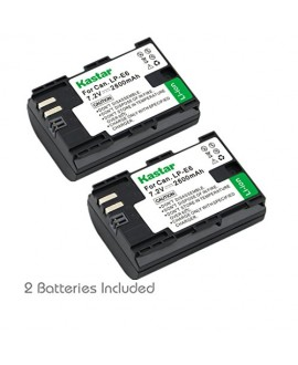 Kastar LPE6 Battery (2-Pack) for Canon LP-E6, LP-E6N, LC-E6, LC-E6E and Canon EOS 5DS R, Canon EOS 5DS and Canon EOS 5D Mark II, EOS 5D Mark III, EOS 6D, EOS 7D, EOS 60D, EOS 60Da, EOS 70D, EOS 80D