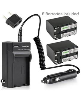 Kastar Battery (3-Pack) + Charger for Canon BP-970G BP-975 & EOS C100, EOS C100 Mark II, EOS C300 C300 PL, EOS C500 C500 PL GL2 XF100 XF105 XF200 XF205 XF300 XF305 XH A1S, XH G1S, XL H1A XL H1S XL2