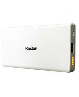 Kastar Unique Hi-tech Slim Design 10000mAh Portable External Battery Pack Power Bank (Apple Lightning 2A Input / 3A Output 1 Port) for iPhone 7, 7 plus, 6, 6 plus, iPad and Most USB Device (White)