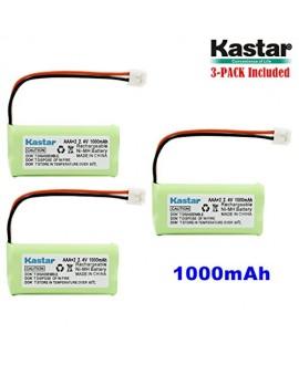 Kastar 3-PACK AAAX2 2.4V EH 1000mAh Ni-MH Rechargeable Battery for BT184342 BT284342 BT18433 BT28433 BT-1011 BT-1022 BT-1031 Vtech CS6229 DS6301 Uniden Wxi3077 ECT4066 DECT4096 Motorola Cordless phone