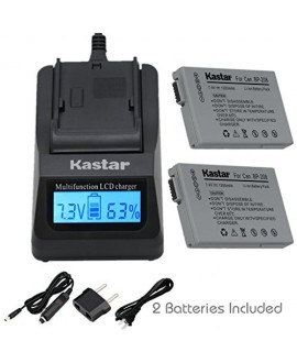 Kastar Fast Charger and BP-208 Battery (2X) for Canon DC10 DC19 DC20 DC21 DC22 DC40 DC50 DC51 DC95 DC100 DC200/201/210/211 DC220/230 Elura 100 FVM300 IXY DVS1 MVX1Si/430/450/460 Optura S1 VIXIA HR10