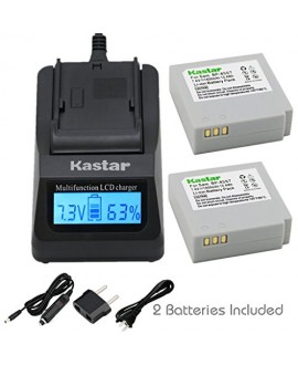 Kastar Ultra Fast Charger(3X faster) Kit and Battery (2-Pack) for Samsung IA-BP85NF, IA-BP85ST work with Samsung HMX-H100, HMX-H104, HMX-H105, HMX-H106, SC-HMX10, SC-HMX20C, SC-MX10, SC-MX20, SMX-F30, SMX-F33, SMX-F34, VP-HMX08, VP-HMX10, VP-HMX10C, VP-HM