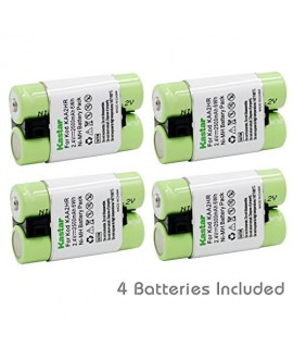 Kastar KAA2HR Battery (4-Pack) for Kodak KAA2HR KAARDC K3ARDC and Kodak EasyShare Digital Cameras