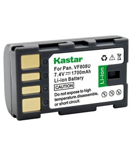 Kastar BN-VF808 Battery (1-Pack) for JVC BN-VF808 BN-VF808U BN-VF815 BN-VF815U BN-VF823 BN-VF823U and JVC MiniDV, Everio specified camcorders (Detail Models in the Description)