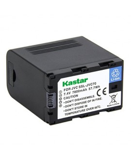 Kastar Battery (1-Pack) for JVC SSL-JVC70 and JVC GY-HMQ10, GY-LS300, GY-HM200, GY-HM600, GY-HM600E, GY-HM600EC, GY-HM650 Camcorders