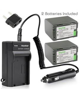 Kastar Battery (X2) & AC Travel Charger for Panasonic CGR-D28 D28S CGR-D08 D08S CGR-D14 CGR-D16 D16S, CGR-D120 CGR-D210 CGR-D220 CGR-D320 & AG Series AJ-PCS060G DZ-MX5000 NV Series PV Series VDR-M20