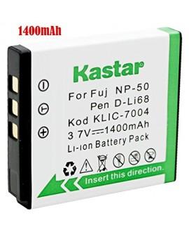 Kastar Battery for Kodak KLIC-7004 K7004 NP-50 D-Li68 and EasyShare M2008 V1273 V1233 V1253 Zi8 Zi12 PlayFull Dual PlaySport PlayTouch Pentax Q7 Q10 Q-S1 Ricoh WG-M2 Camera