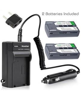 Kastar Battery (X2) & Travel Charger Kit for Samsung SB-LSM80 and SC-D351 VP-D351 VP-D351i VP-D352 VP-D352i VP-D353 VP-D353i VP-D354 VP-D354i VP-D647 VP-D651 VP-D653 VP-DC161 VP-DC161i DC163 DC163i