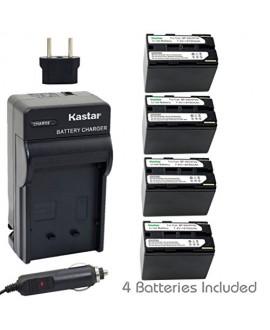 Kastar Battery (4-Pack) + Charger for Canon BP-945, BP-950, BP-970, C2, FV1, FV500, Optura, Ultura, Vistura, DM-XL2, DM-MV20, E65AS, ES-8600, G2000, GL2, MV200i, UC-V300, V75Hi, XH-G1, XL-H1, XM2, XV5