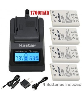 Kastar Fast Charger Kit and Battery (4-Pack) for Nikon EN-EL5,Nikon MH-61 work with Nikon Coolpix 3700, 4200, 5200, 5900, 7900, P3, P4, P80, P90, P100, P500, P510, P520, P530, P5000, P5100, P6000, S10