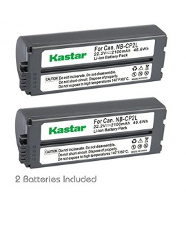 Kastar Battery NB-CP2L (2-PACK) for Canon NB-CP1L NB-CP2L and Canon Compact Photo Printers SELPHY CP100 CP200 CP220 CP300 CP330 CP400 CP510 CP600 CP710 CP730 CP770 CP780 CP790 CP800 CP900 CP910